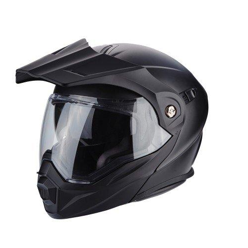 SCORPION Casque moto ADX 1 SOLID Noir Mat, Noir, L