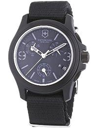 Victorinox Swiss Army Active Original 241534 - Reloj cronógrafo de cuarzo para hombre, correa de tela color negro (cronómetro, agujas luminiscentes)