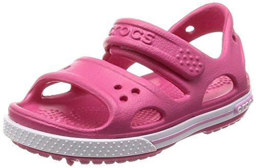 Crocs crocband ii ps, sandali a punta aperta bambino, rosa (paradise pink/carnation), 32/33 eu