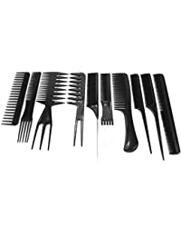 Brendacosmetic 10 Pcs Professional Salon Hair Cutting Comb Set, 10 Pcs Hair Color Applicator Comb Set Hair Style...