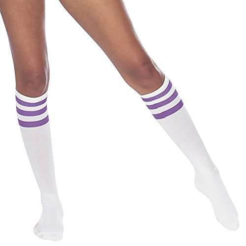 american-apparel-unisex-stripe-knee-high-sock-white-purple-911