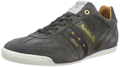Pantofola d'Oro Herren VASTO Suede Uomo Low Sneaker, Grau (Dark Shadow .7Zw), 42 EU