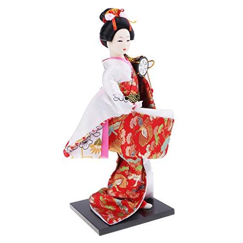 D DOLITY Japanische Damen Puppe Figur Handmade Miniatur Home Decor Puppe Schönheit Frauen Handwerk für Home Decor Kunst - # 1