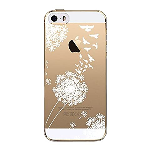 iPhone SE / 5 / 5S Case Clear, UCMDA Ultra Slim Soft TPU Silicone Back Rubber Bumper Protector Cover Case for iPhone SE / 5 / 5S- Dandelion Tree