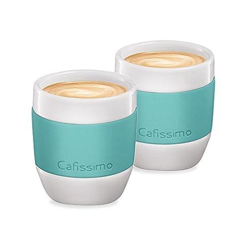 Tchibo Cafissimo Espressotasse aus Porzellan mit Silikonmanschette, 2er Set, mint