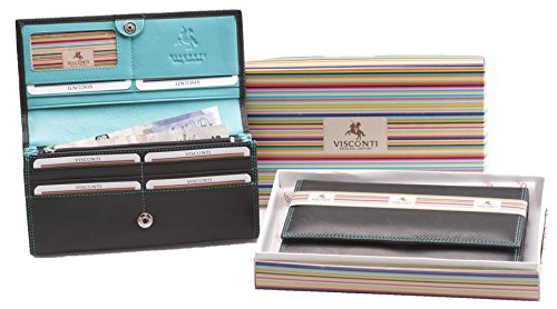 Visconti Collection Colorado Porte-monnaie en Cuir Souple pour Femmes CD21