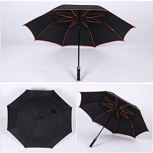 Golf Regenschirm, Premium Qualität Double Canopy, 53 Inch Groß, Automatisch zu öffnen, Regen- und Windresistent Golfschirme,Schwarz