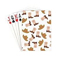 YXUAOQ Playing Cards Retro Cartoon Fashion Cowboy Boots Mens Playing Cards Unique For Kids & Adults Card Decks Games Standard Size
