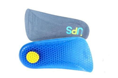 HealthPanion 1 Paar Frauen Blau Silikon Velvet Gel-Einlegesohle Schuheinlage Gelsohle (Scholls Dr. Schuheinlagen)