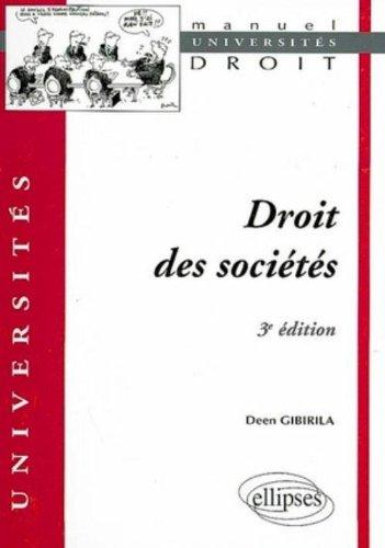 Droit des Societes Troisième Edition