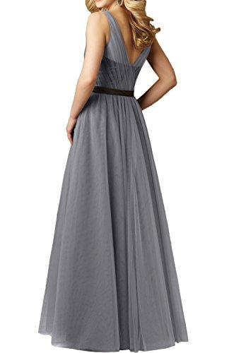 Gorgeous Bride Modern Träger A-Linie Tüll Satiin Lang 2017 Damen  Partykleider Abendkleider Lang Cocktailkleider ...