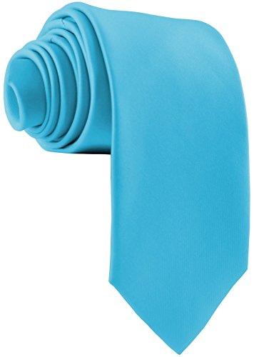 ADAMANT® Designer Krawatte Türkis breit - TOPQUALITÄT - Moderne uni Krawatten für Business und Alltag - Aqua