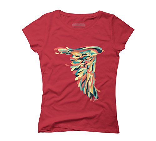 Downstroke Women's Graphic T-Shirt - Design By Humans Red