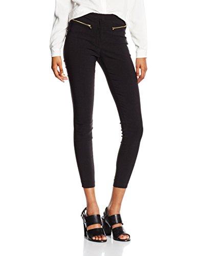 New Look Damen Hose Bengaline Schwarz (Black), 34 (Herstellergröße: 6/L32)