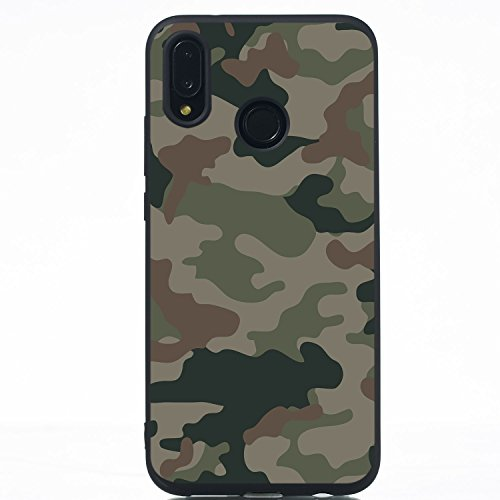 Everainy Huawei P20 Lite Hülle Silikon Bumper Gummi Neu Cover Hüllen Kompatibel für Huawei P20 Lite Handyhülle Stoßfest TPU Stoßstange Schwarz Schutzhülle (Camouflage) Orange Camouflage