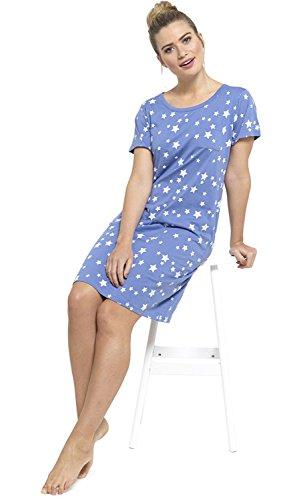 Chemise De Nuit Dames T-Shirt Slogan Pyjamas Nuisette Chemise Gris
