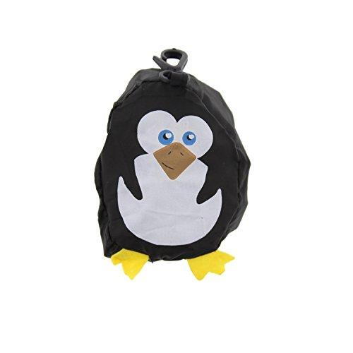 Zac 's Alter Ego® Fun Tiermotiv Einkaufstasche in/Waschtisch aufsteckbar Pocket Tasche Pinguin