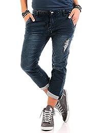 Urban Surface Damen 3/4 Jogg Jeans LUS-094 LUS-095 LUS-108 Boyfriend Hose Stretch destroyed
