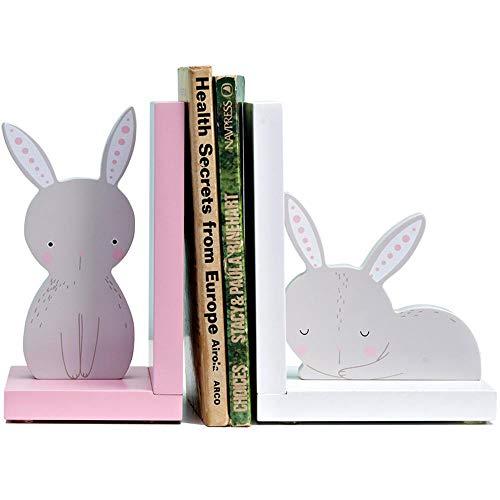 Handwerk Dvd-rack (XJAXY Cartoon Kaninchen BuchstüTze, Kinder Desktop Dekoration Handgefertigte Holz Material, Geeignet FüR Kinder Schlafzimmer Schule, Etc.)