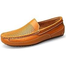 Calzado para hombres Mocasines de cuero para primavera / otoño y zapatillas sin cordones / Calzado