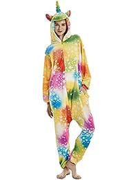 Mystery&Melody Unicornio Pijamas Cosplay Unicorn Disfraces Animales Franela Monos Unisex-Adulto Ropa de Dormir Disfraces de Fiesta