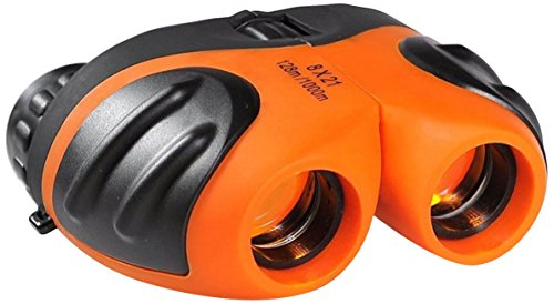 Kompakt Binoculars Kinder, Geschenke für Jungen, DMbaby 8 x 21 Fernglas für Vogelbeobachtung Reisen Sightseeing Orange DL05