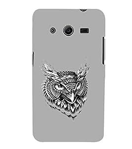 EPICCASE terrific owl Mobile Back Case Cover For Samsung Galaxy Core 2 (Designer Case)