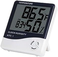 Sensualmax Indoor Digital Humidity Temperature Thermometer Sensor,Hygrometer Meter Gauge With Lcd Display