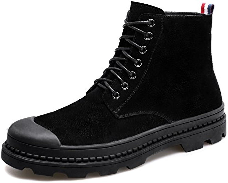 HL PYL   Die neuen Stiefel fuumlr Martin High Fashion Casual Stiefel fuumlr koreanische Runde Stiefel  42  Schwarz