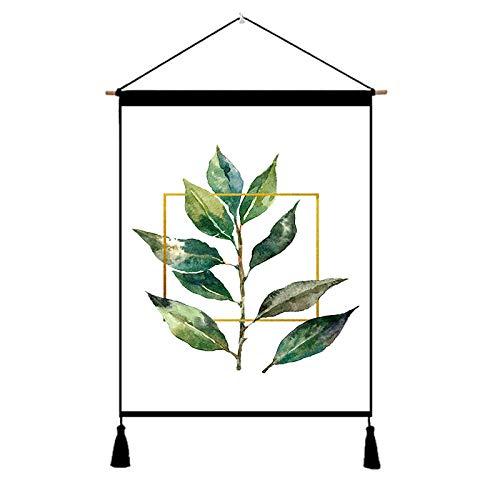 liuweixiong Nordic Tapisserie einfache Pflanze hängen Tapisserie Wandbilder Wohnzimmer Esszimmer Wand Stoff @ 45-65_1887