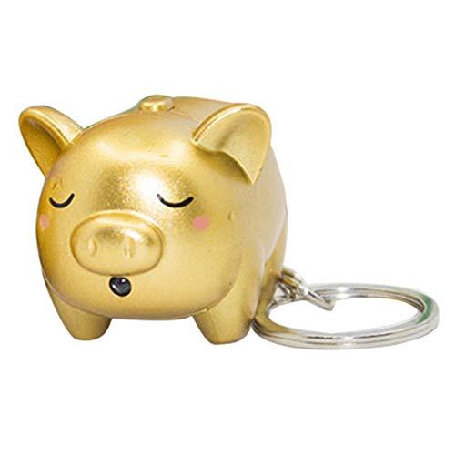 FEIDAjdzf Schlüsselanhänger/Schlüsselanhänger mit LED-Licht, Motiv: Schwein