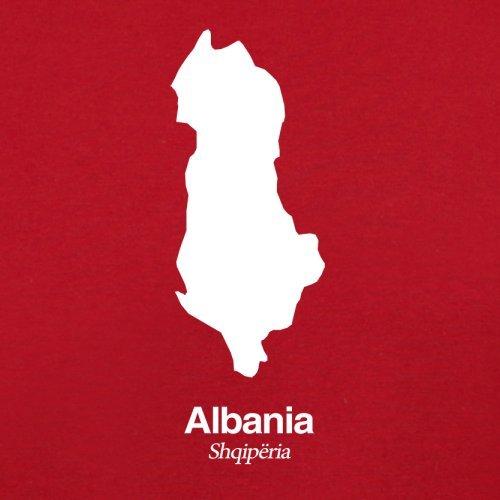 Albania / Albanien Silhouette - Damen T-Shirt - 14 Farben Rot