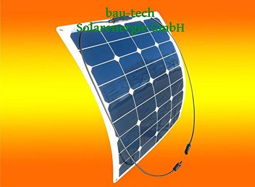 Flexibles Solarmodul Solarpanel 50Watt 12Volt Mono semi flex 50W von bau-tech Solarenergie GmbH