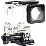Cubierta Impermeable de Cámaras para Buceo Caja Protectora de Cámara con Apertura Lateral para GoPro Hero 4/3 +