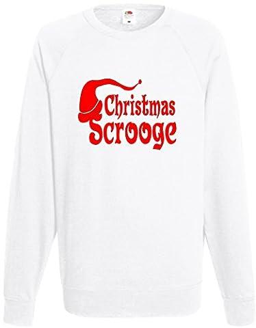 Weihnachten Scrooge Sweatshirt Lustige Weihnachts Jumper Pullover Geschenk Unisex Top Gr. M, Schwarz - Weiß