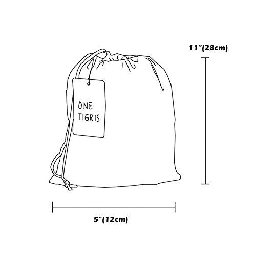 OneTigris Camping Hängematte mit Moskitonetz (inkl. Karabiner und Seile) Belastbarkeit 200kg - 6