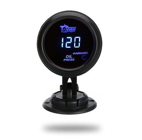 KKmoon 52mm LCD Digital Oil Pressure Meter Gauge with Sensor for Automobile Auto Car 0~120PSI Warning Light