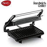 Pigeon by Stovekraft Press Griller Sandwich Toaster (Black)