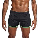 B-commerce Herren Nylon Mesh Sport Shorts Hose - Flache Winkel Leichtathletik Hose Sommer Elastic Active Gym Unterwäsche