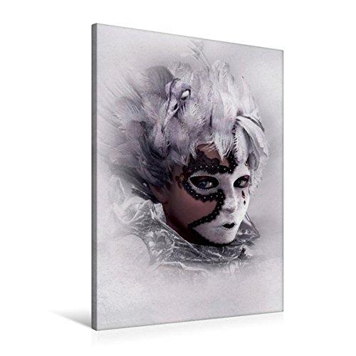 Premium Textil-Leinwand 60 cm x 90 cm hoch, Hinter der Maske | Wandbild, Bild auf Keilrahmen, Fertigbild auf echter Leinwand, Leinwanddruck (CALVENDO (Maske Feen)
