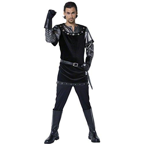 Nottingham Sheriff Kostüme Erwachsene Von (Sheriff von Nottingham Kostüm Mittelalterkostüm Schwarz M 48/50 Mittelalter Bekleidung Ritterkostüm)