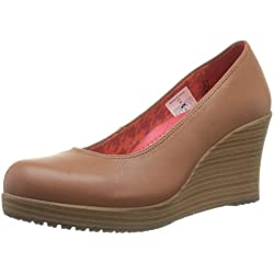 Crocs A-leigh Closed Toe Wedge 14700-2D8-480, Damen Pumps, Braun (Cinnamon/Walnut), 39.5 EU (W9)