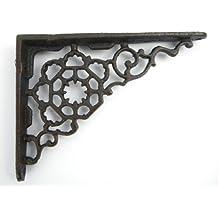 Ángulo de pared regalhalterung Hierro ángulo de estilo antiguo, Estantería para tablas para pared metal antiguo Hierro Fundido Fundido Retro Vintage