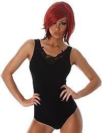 P.F. Body Damen Einteiler Bodysuit Top elstisch weiche Unterwäsche Lingerie