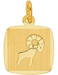 Gold 8 k ( 333 ) Sternzeichen Anhänger - Widder - B. 10,9 mm - H. 10,4 mm