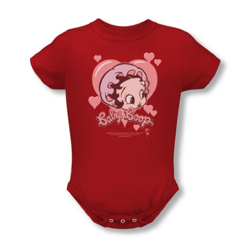 art Baby T-Shirt in Rot, 0-6 Months, Red (Baby Betty Boop)