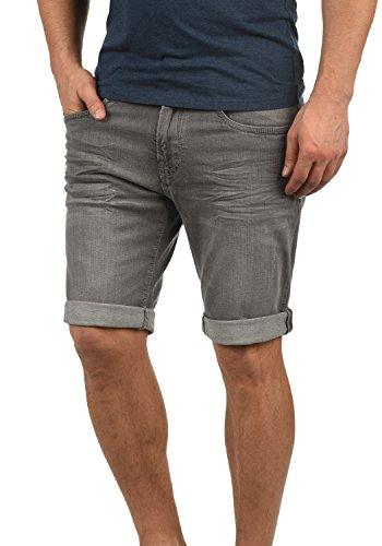 Indicode Quentin Herren Jeans-Shorts Kurze Hose Denim aus hochwertiger Baumwollmischung Stretch, Größe:XL, Farbe:Light Grey (901)