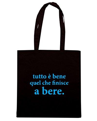 T-Shirtshock - Borsa Shopping BEER0299 Tutto-e-bene Nero