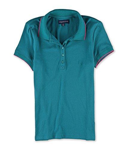 Aeropostale Womens Solid Polo Shirt 350 XS (Polo-shirts Aeropostale)
