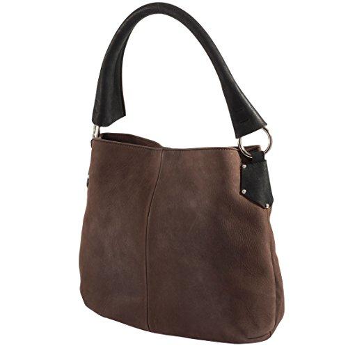 Tilla...Le Borse , sac bandoulière femme marron foncé